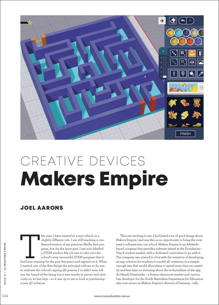 Creative Devices: Makers Empire
