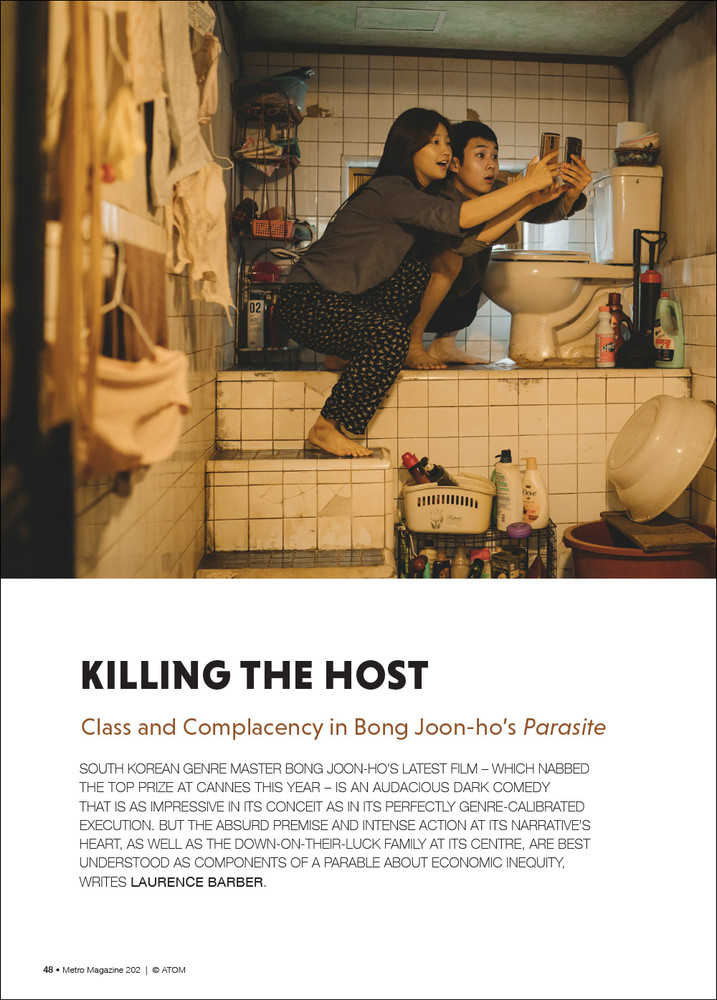 Killing the Host: Class and Complacency in Bong Joon-ho's 'Parasite'
