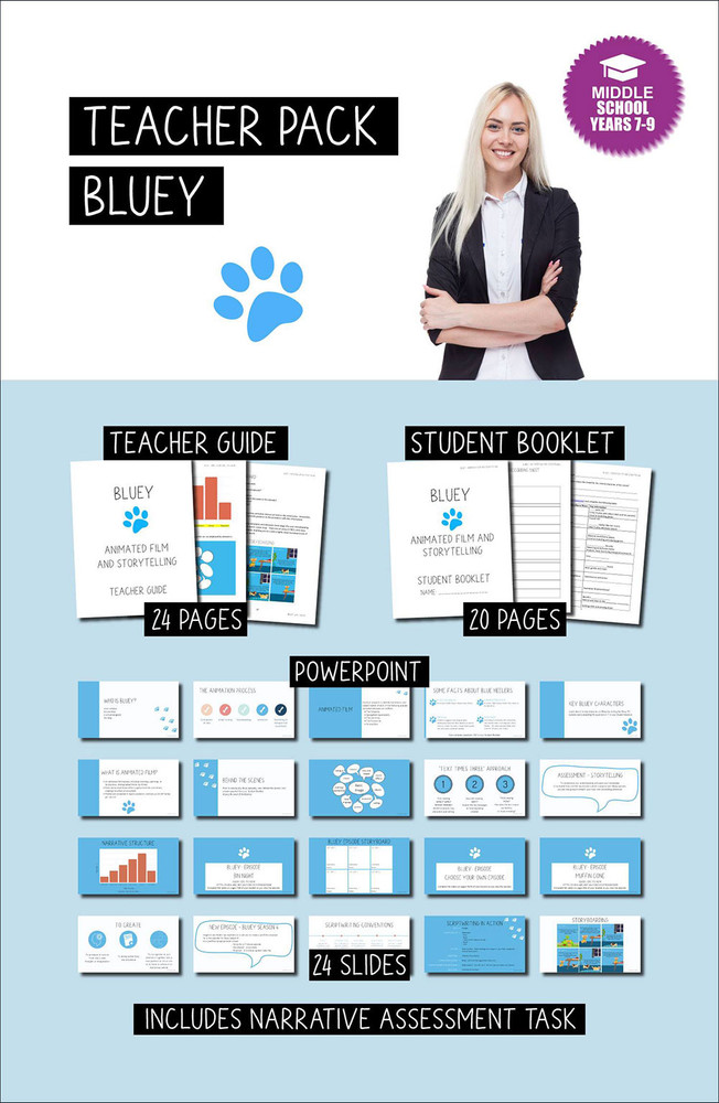 Bluey (Teacher Pack) - Middle School Years 7-9