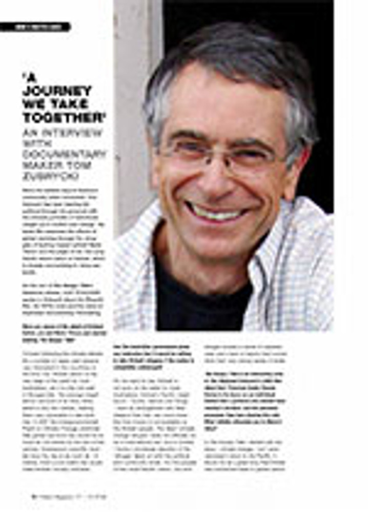 ? Journey We Take Together? An Interview with Documentary Maker Tom Zubrycki