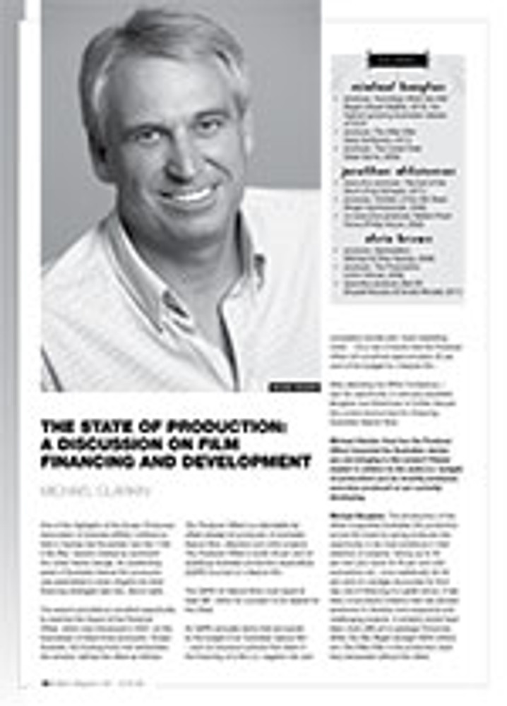 The State of Production: A Discussion on Film Financing and Development