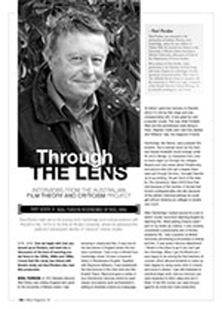 Through the Lens: Interviews from the Australian Film Theory and Criticism Project ?Noel Purdon