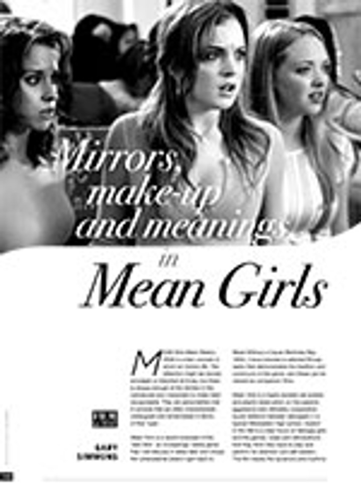 Mirrors, Make-up and Meanings in <i>Mean Girls</i>
