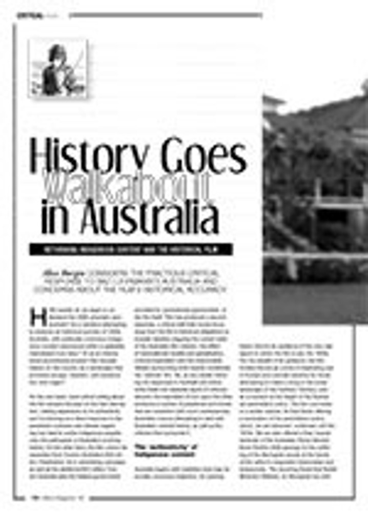 History Goes Walkabout in <i>Australia</i>: Rethinking Indigenous Content and the Historical Film