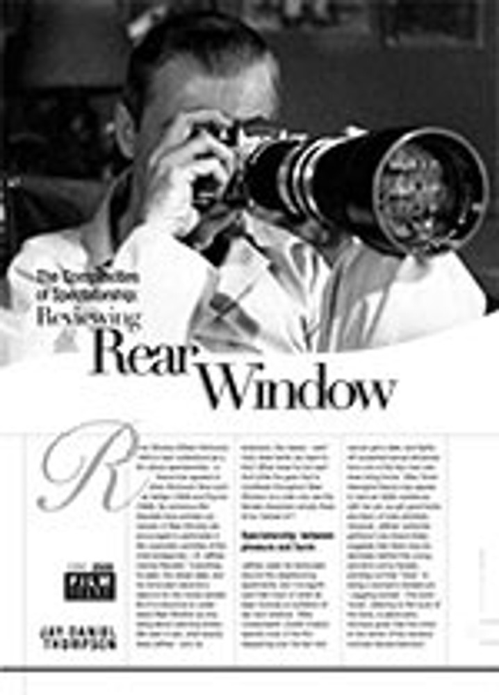 The Complexities of Spectatorship: Reviewing <i>Rear Window</i>