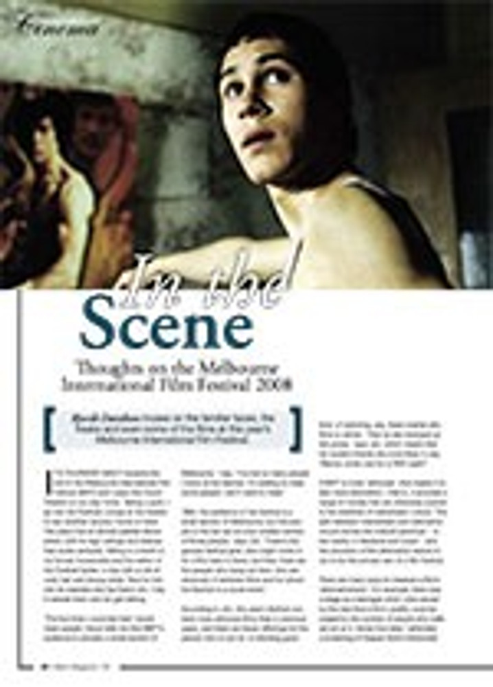 In the Scene: Thoughts on the Melbourne International Film Festival 2008