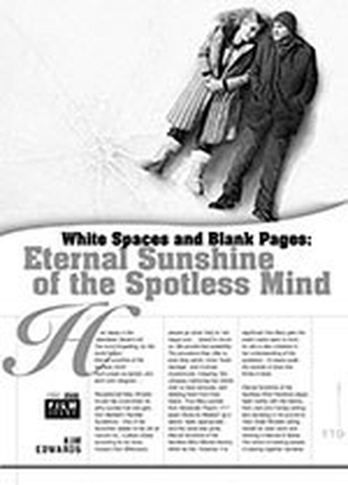 White Spaces and Blank Pages: <i>Eternal Sunshine of the Spotless Mind</i>