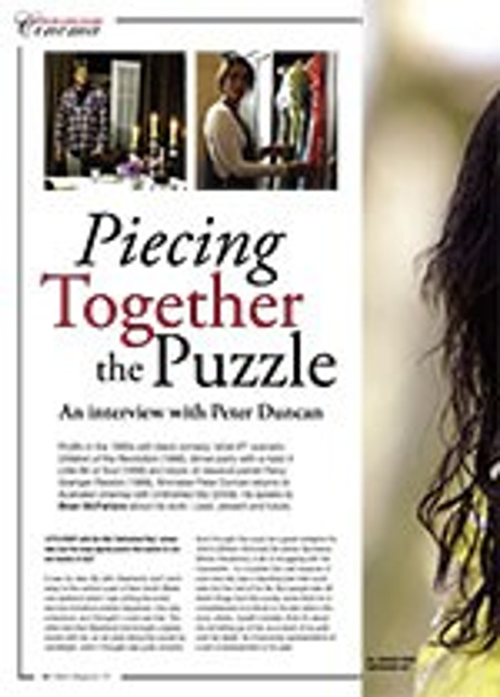 Piecing Together the Puzzle: An Interview with Peter Duncan