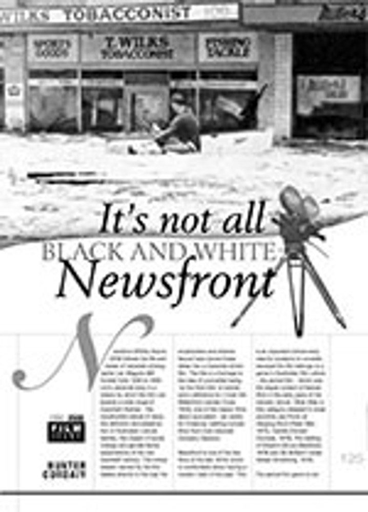 It? Not All Black and White: <i>Newsfront</i>