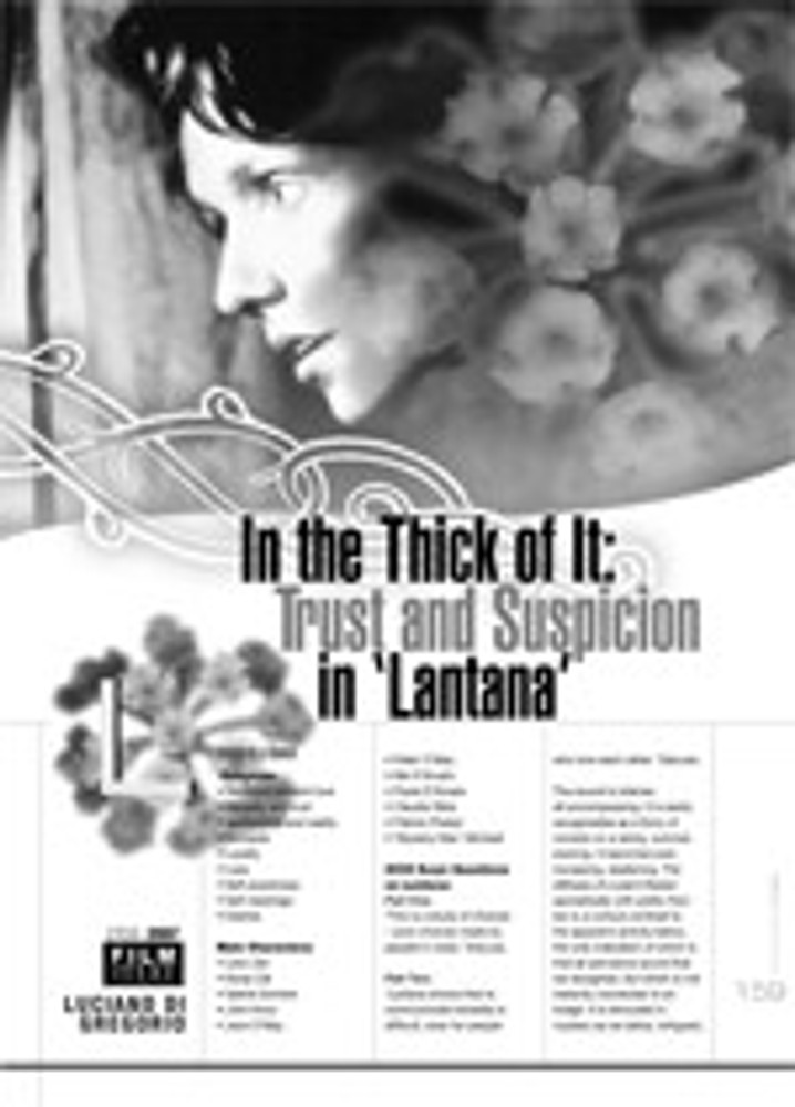 In the Thick of it: Trust and Suspicion in <i>Lantana</i>