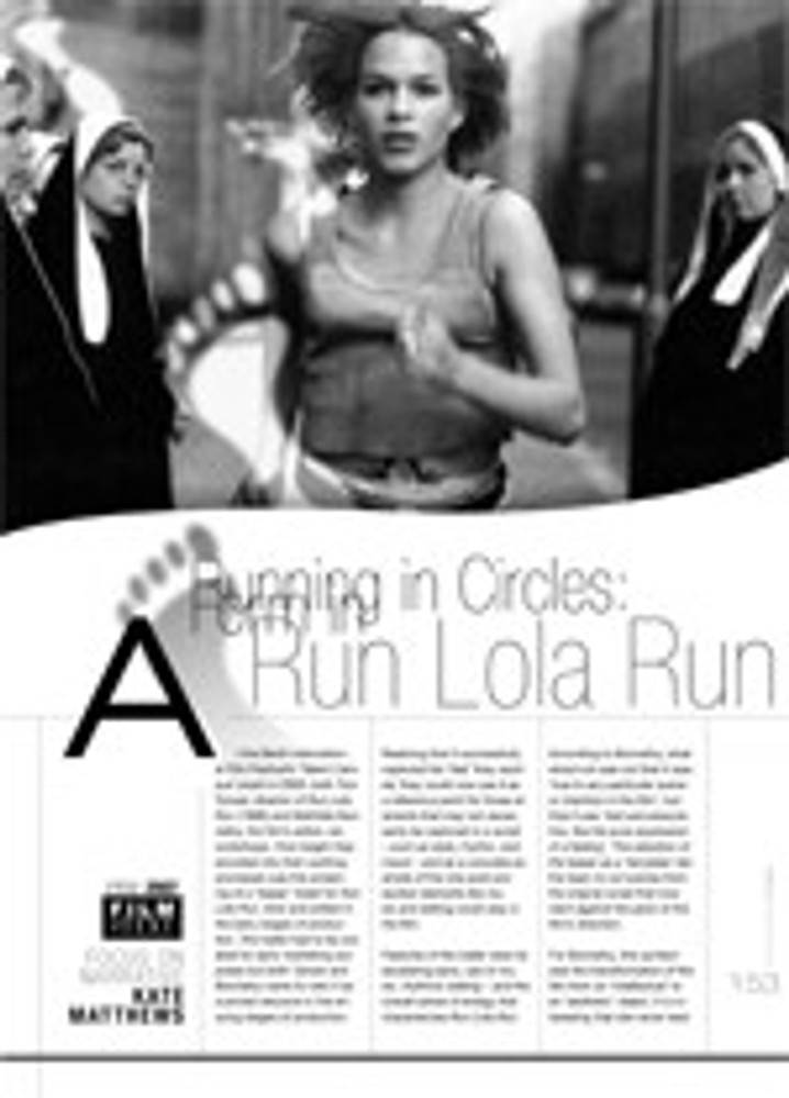Running in Circles: Form in <i>Run Lola Run</i>