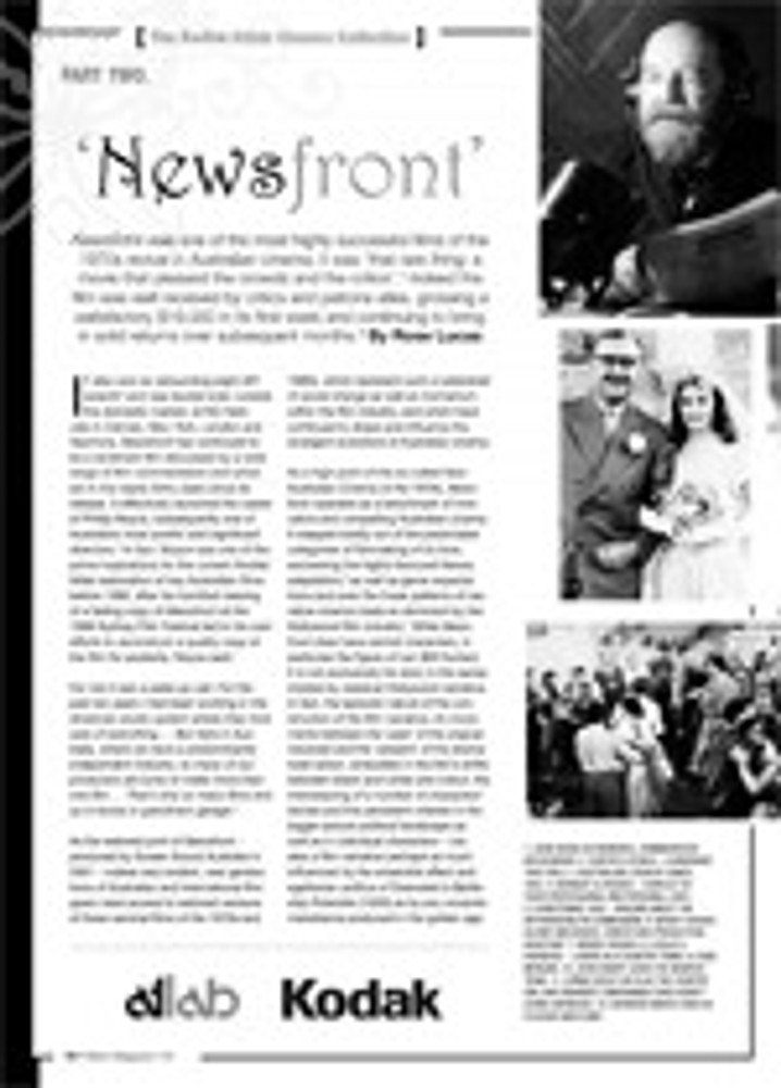 The NFSA's Atlab/Kodak Cinema Collection: <i>Newsfront</i>