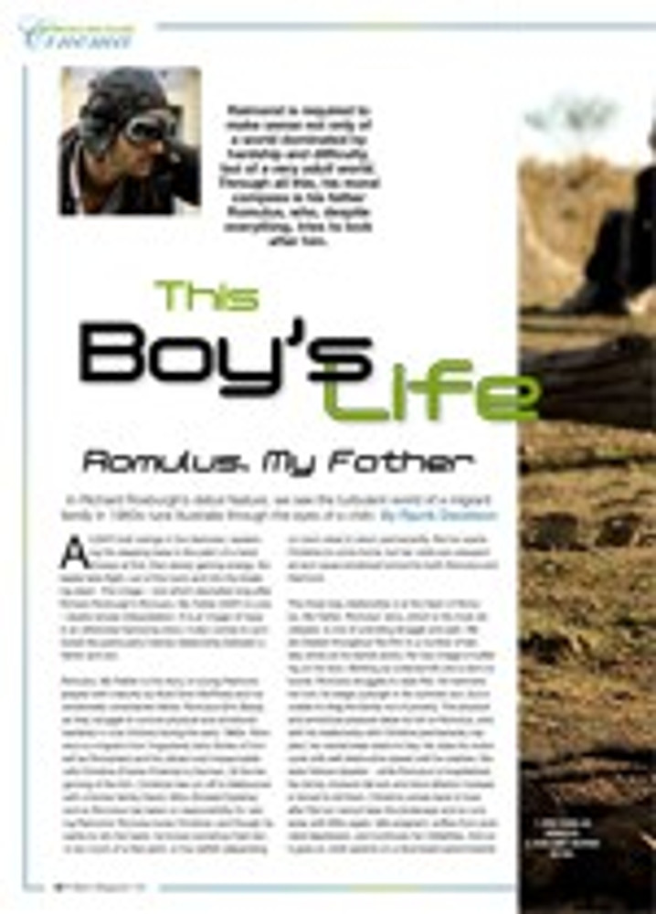This Boy's Life: <i>Romulus, My Father</i>