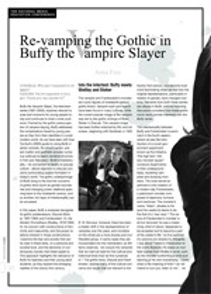 Re-vamping the Gothic in <i>Buffy the Vampire Slayer</i>