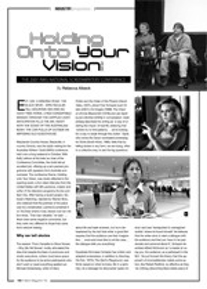 Holding onto Your Vision: The 2007 AWG National Screenwriters' Conference