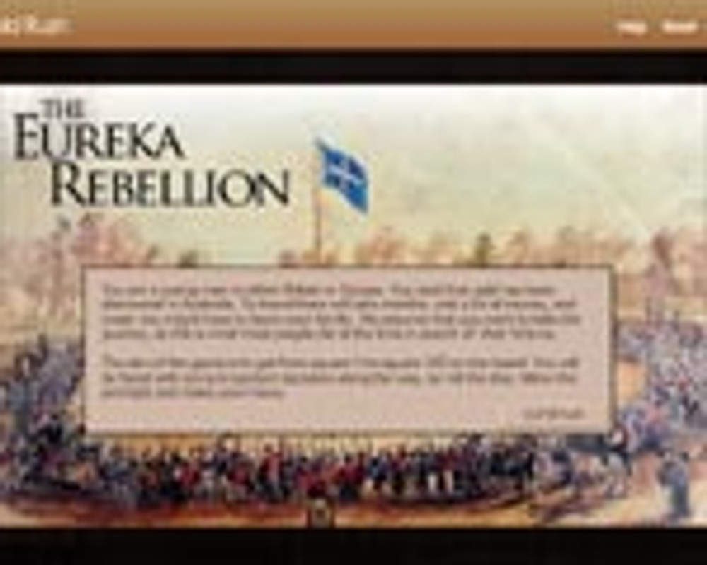 Gold Rush ?and the path to the Eureka Rebellion