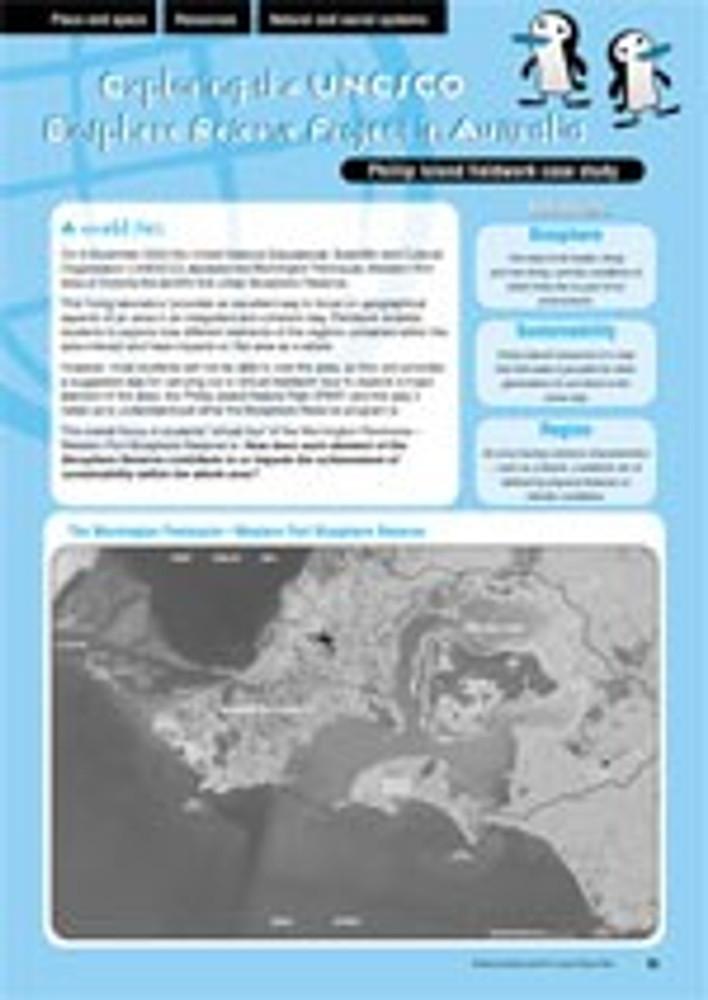 Exploring the UNESCO Biosphere Reserve Project in Australia ?Phillip Island fieldwork case study