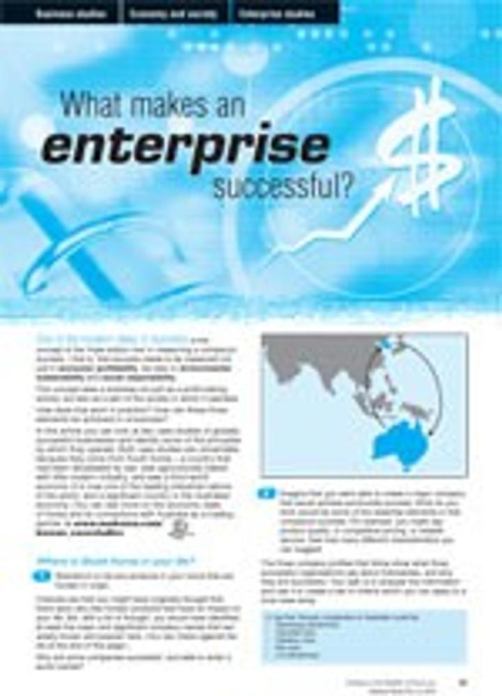 What makes an enterprise successful?