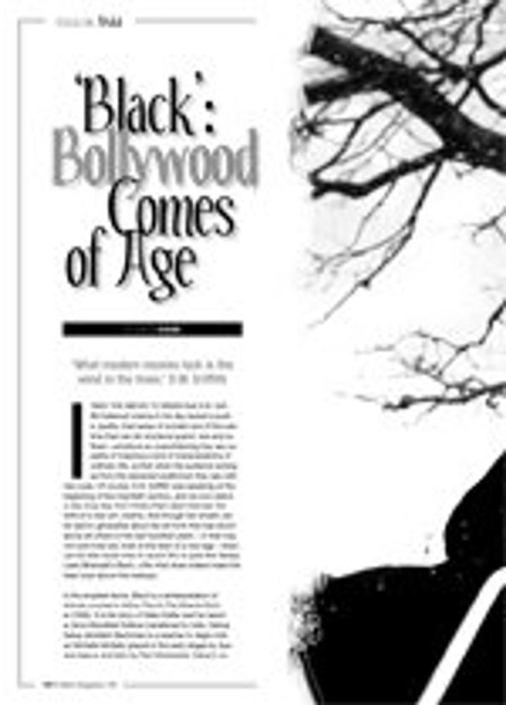 <i>Black</i>: Bollywood Comes of Age