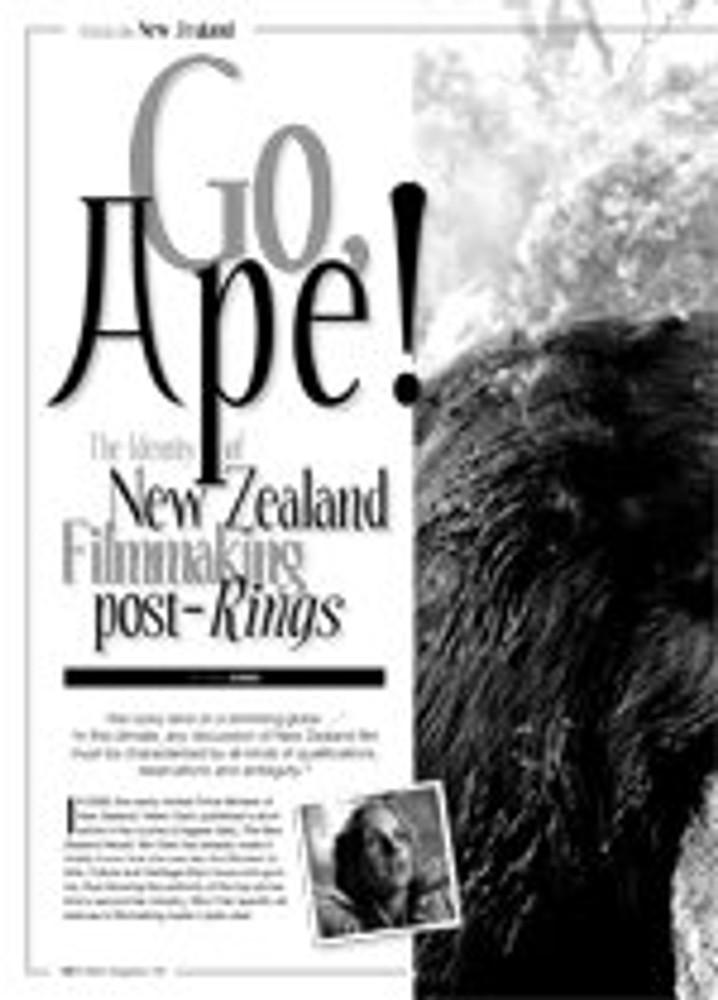 Go, Ape! The Identity of New Zealand Filmmaking, post-Rings