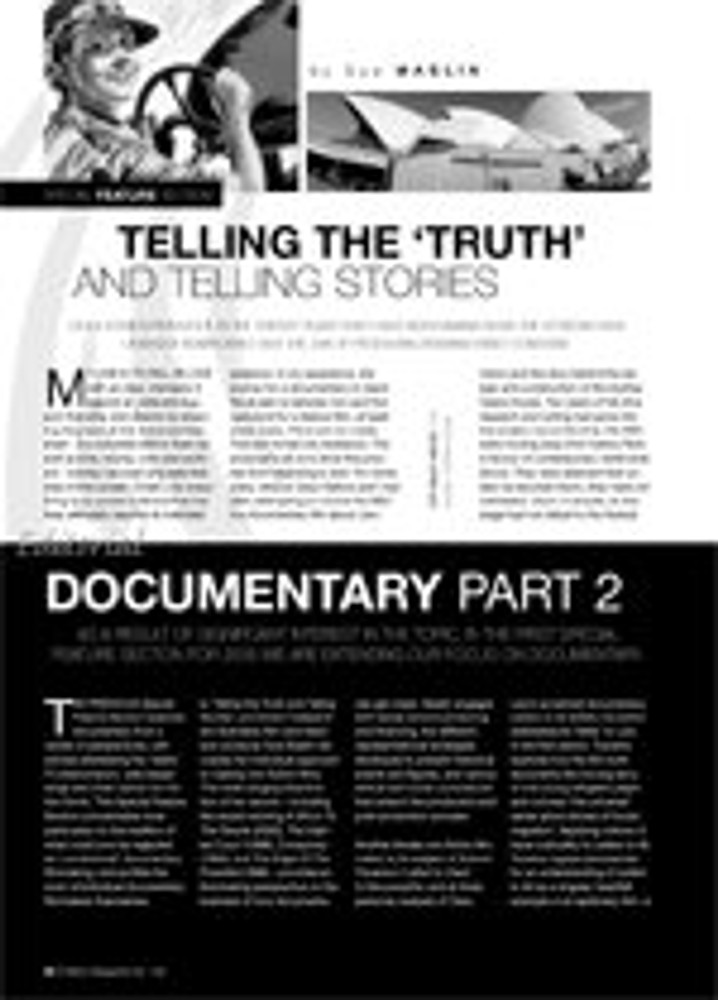 Telling the 'Truth' and Telling Stories