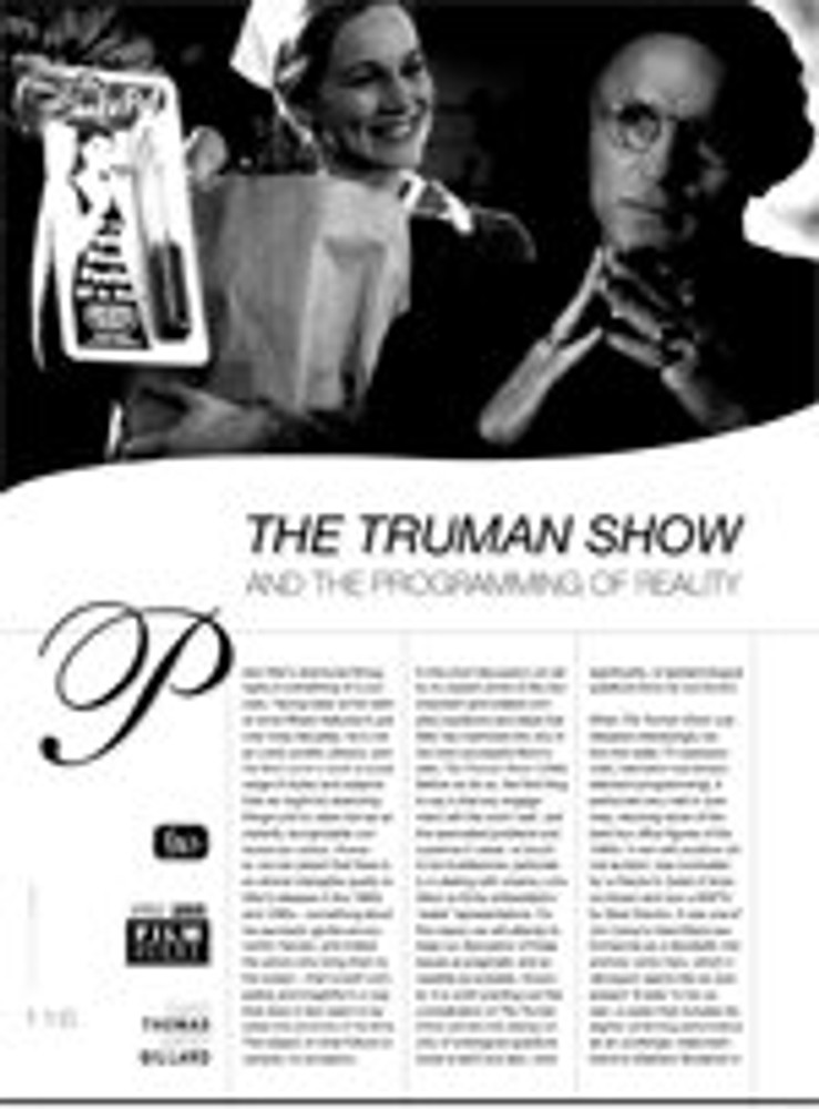 The Truman Show and the Programming of Reality