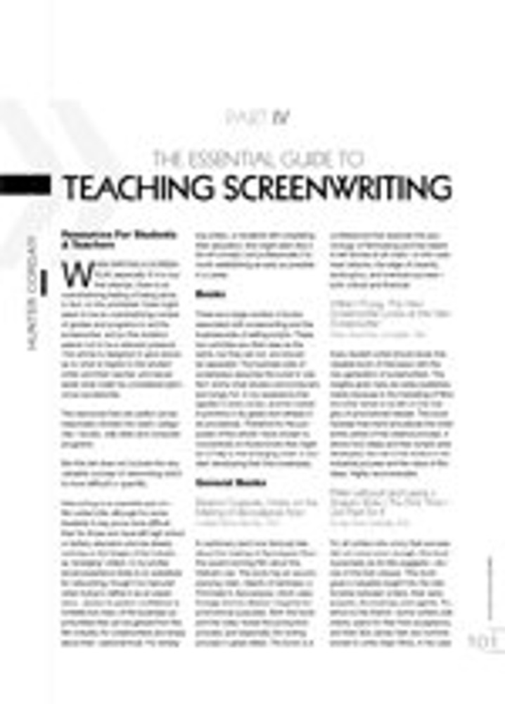 The Essential Guide to Teaching Screenwriting