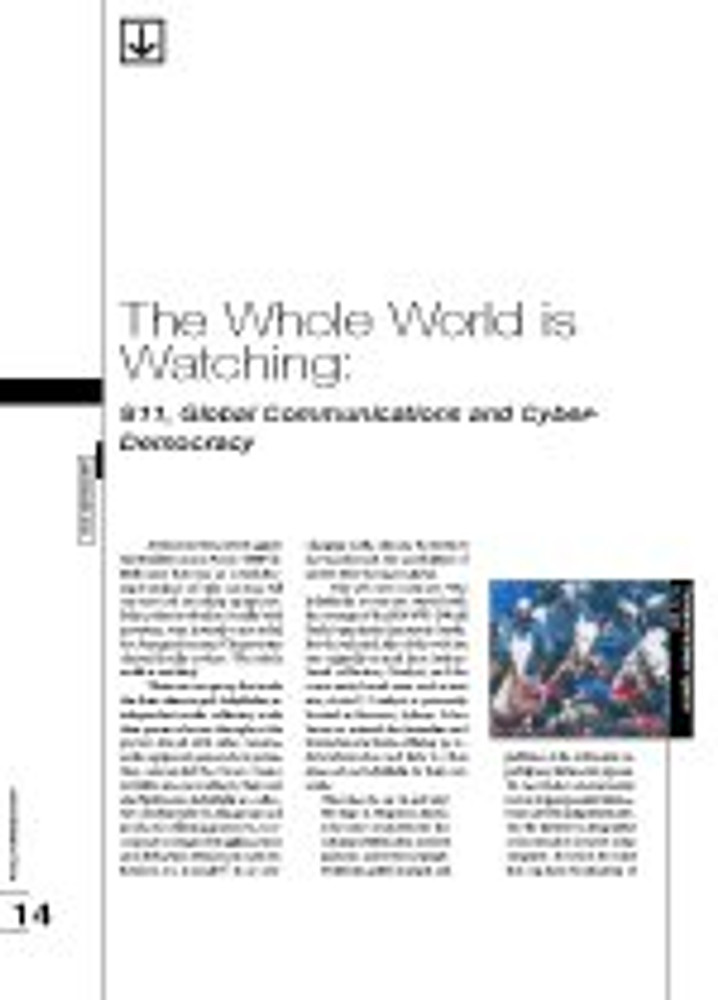 The Whole World is Watching: S11, Global Communications and Cyber-Democracy