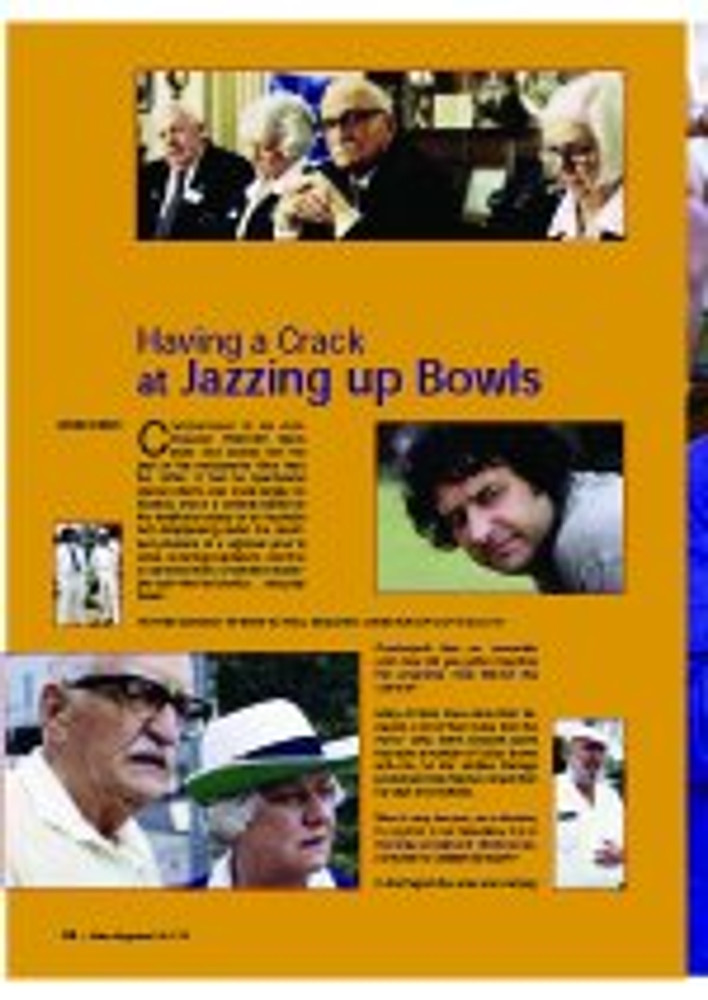 Having A Crack At Jazzing Up Bowls: Hunter Cordaiy Speaks to Paul Moloney, Director of