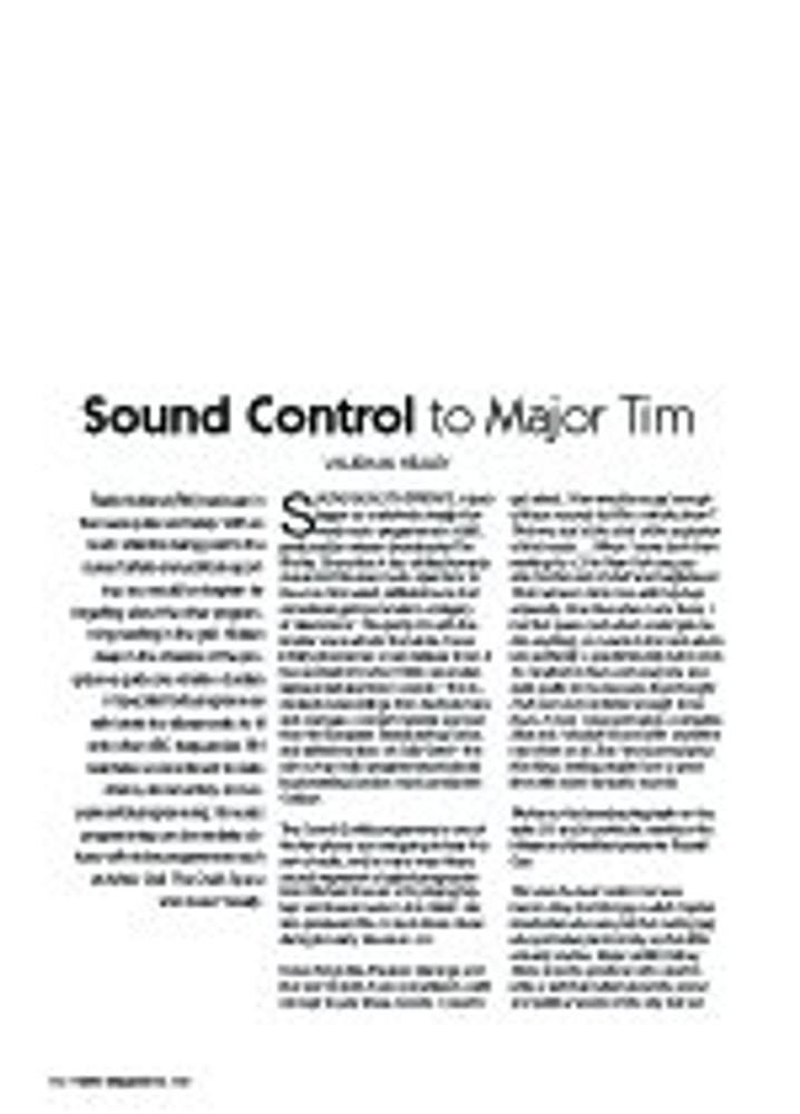 Sound Control to Major Tim