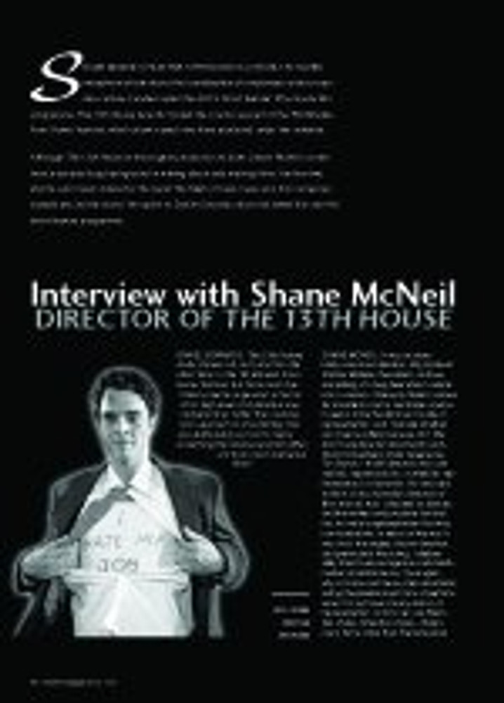 Interview with Shane McNeil: Director of