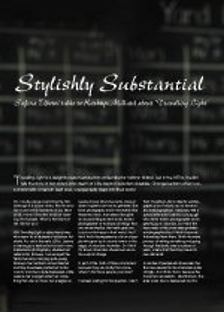 Stylishly Substantial: An Interview with Kathryn Millard about
