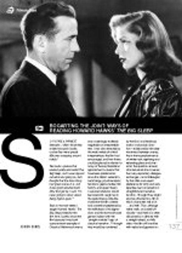 Bogarting the Joint: Ways of Reading Howard Hawks??he Big Sleep?(Film As Text)