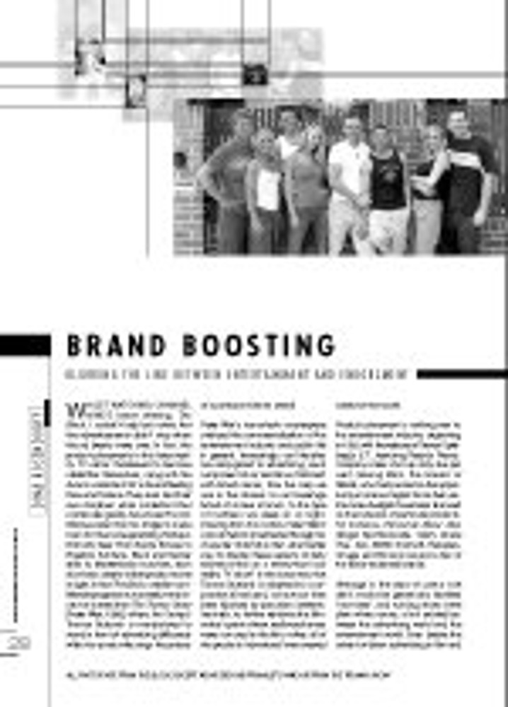Brand Boosting: Blurring the Line between Entertainment and Endorsement