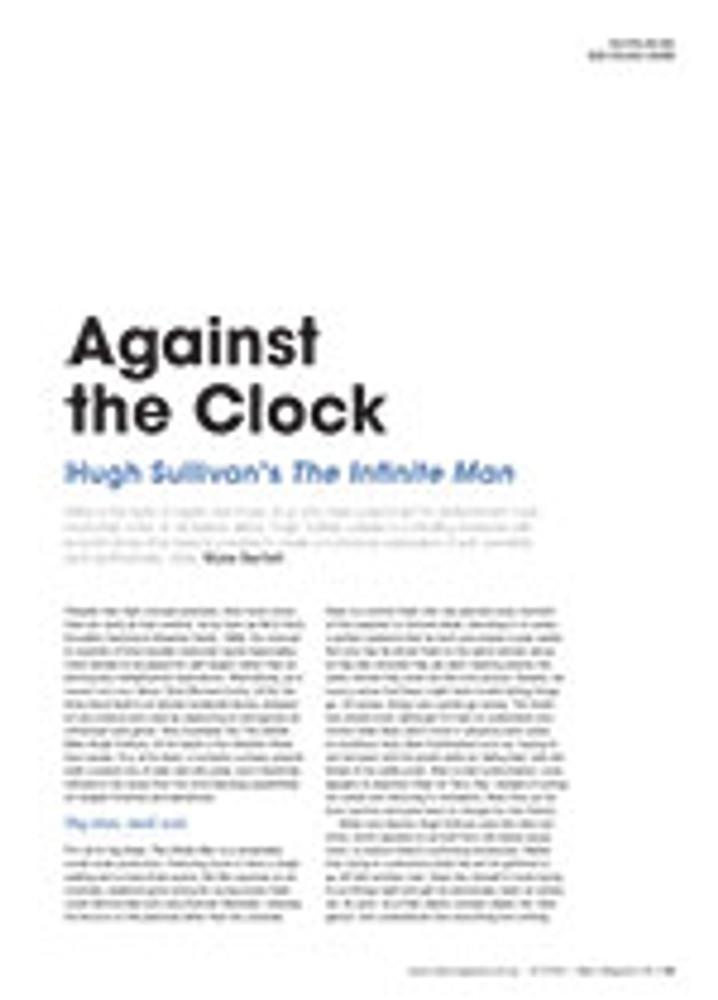 Against the Clock: Hugh Sullivan's <em>The Infinite Man</em>
