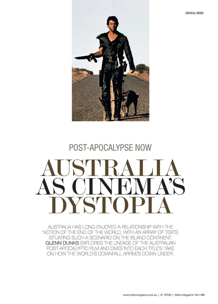 Post-Apocalypse Now: Australia as Cinema's Dystopia