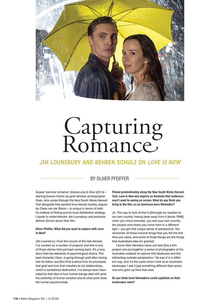 Capturing Romance: Jim Lounsbury and Behren Schulz on Love Is Now