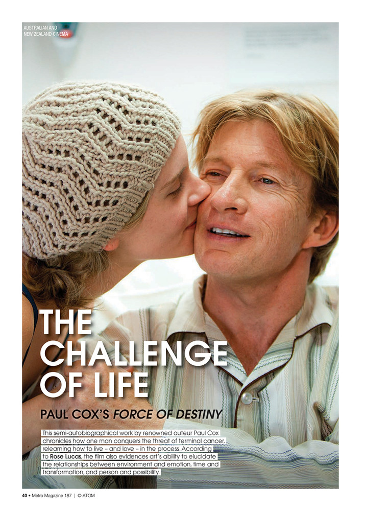 The Challenge of Life: Paul Cox's Force of Destiny
