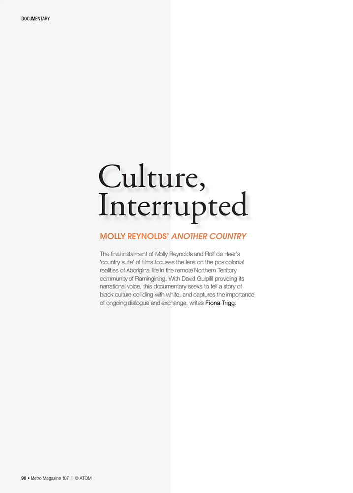 Culture, Interrupted: Molly Reynolds' Another Country