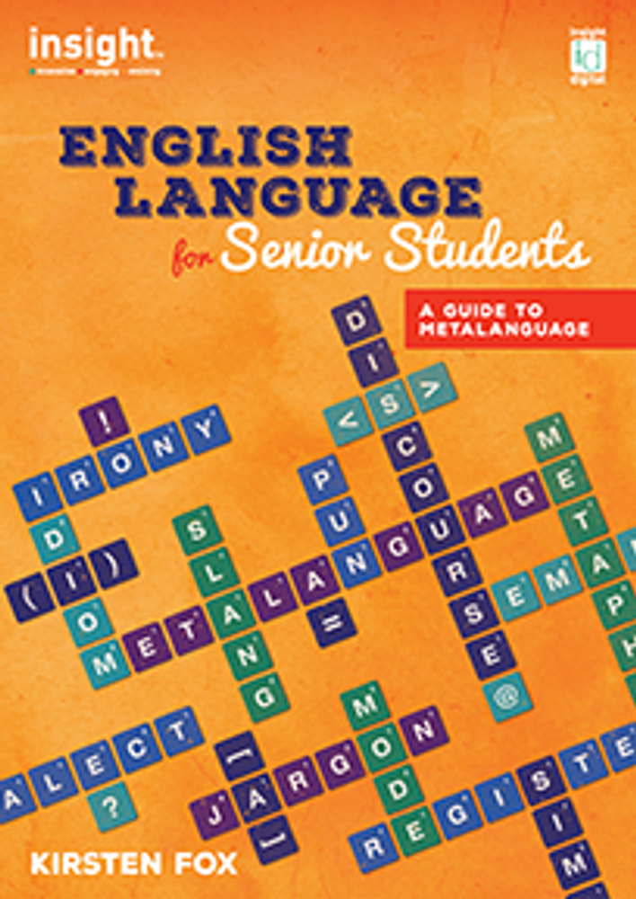 English Language for Senior Students: A Guide to Metalanguage