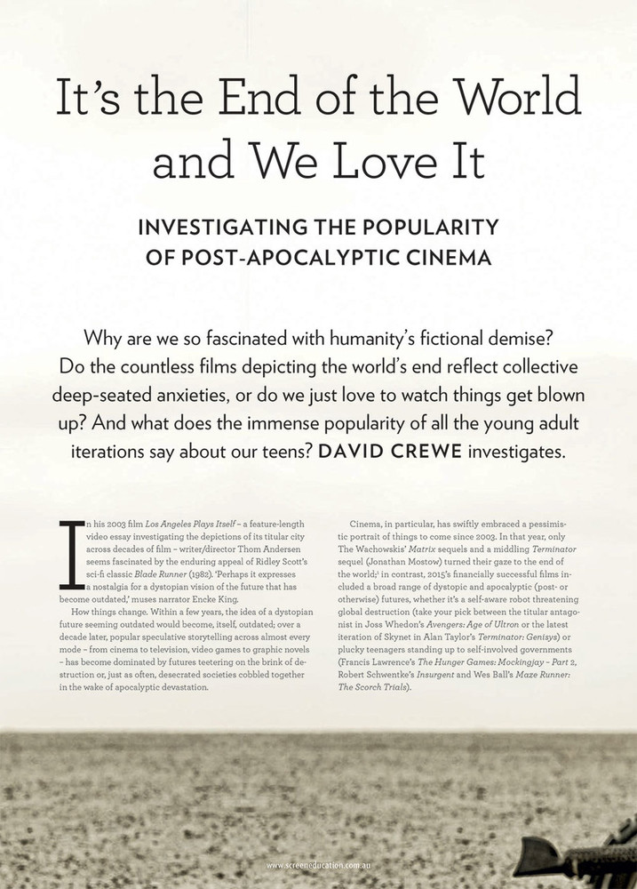 It's the End of the World and We Love It: Investigating the Popularity of Post-apocalyptic Cinema