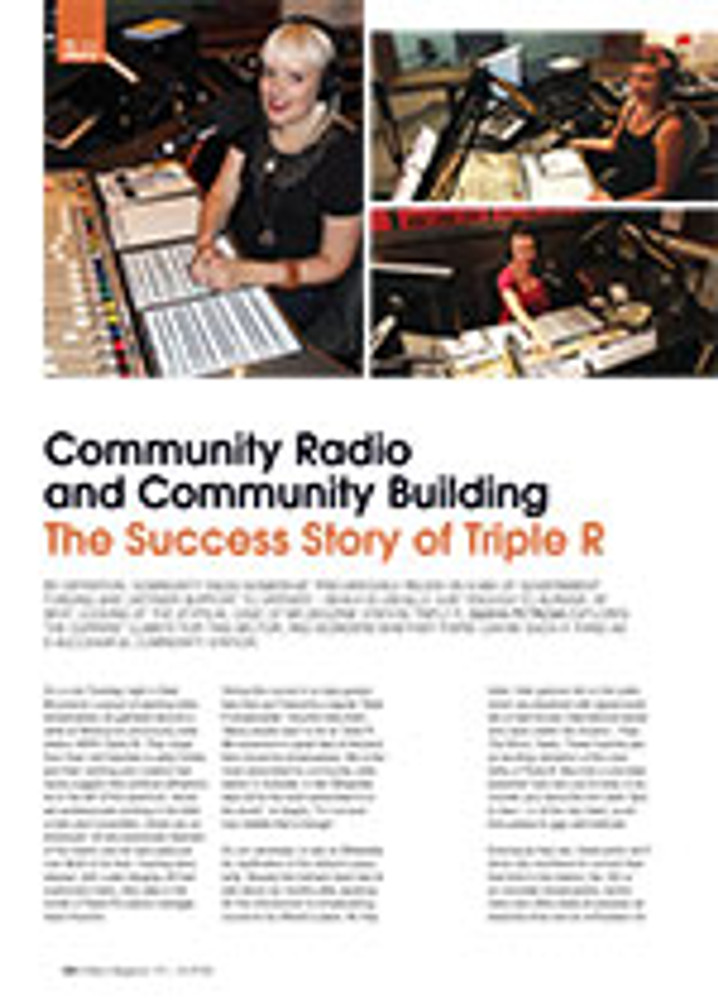 Community Radio and Community Building: The Success Story of Triple R