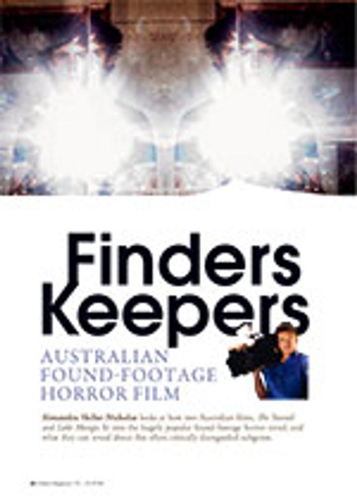 Finders Keepers: Australian Found-footage Horror Film