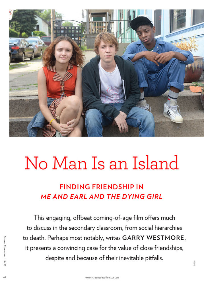 No Man Is an Island: Finding Friendship in Me and Earl and the Dying Girl