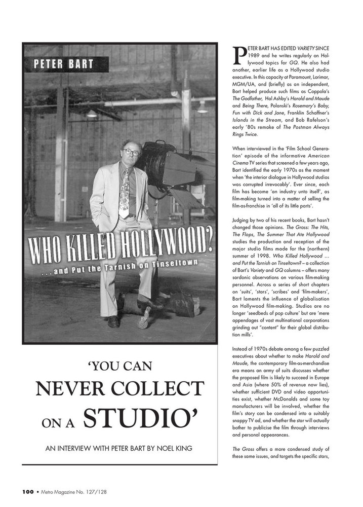 You Can Never Collect on a Studio': An interview with Peter Bart by Noel King