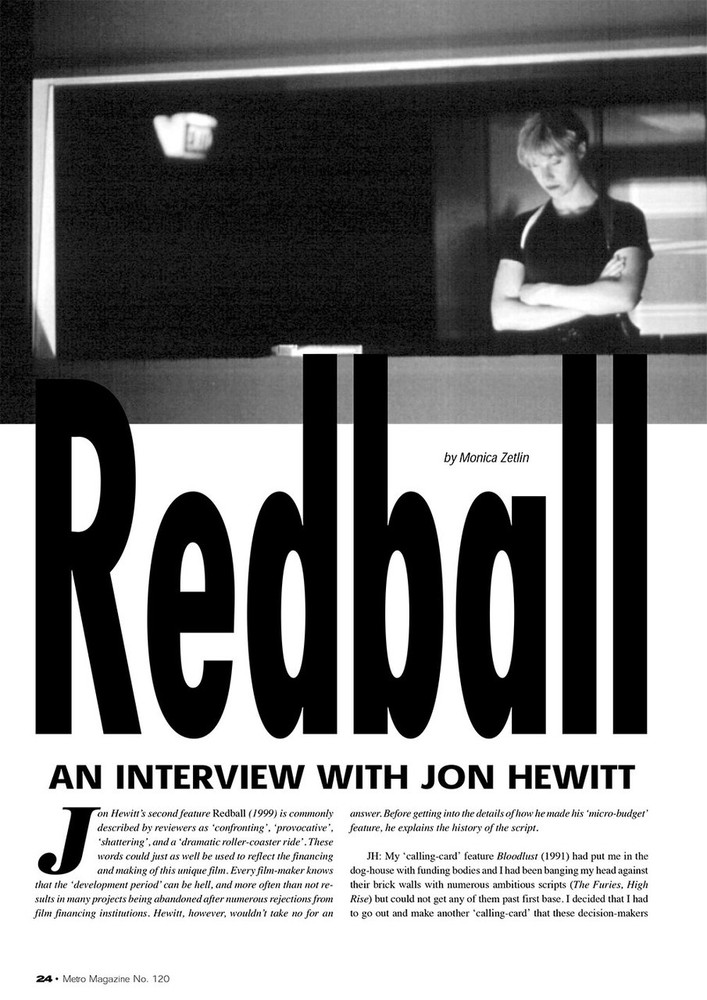 Redball': An Interview with Jon Hewitt