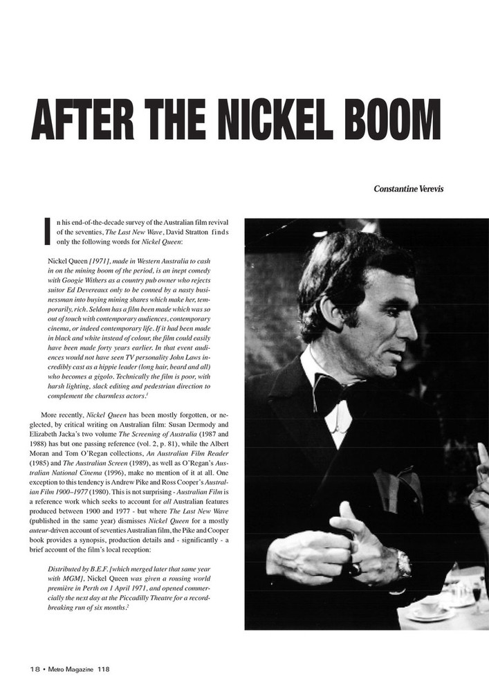 After the Nickel Boom