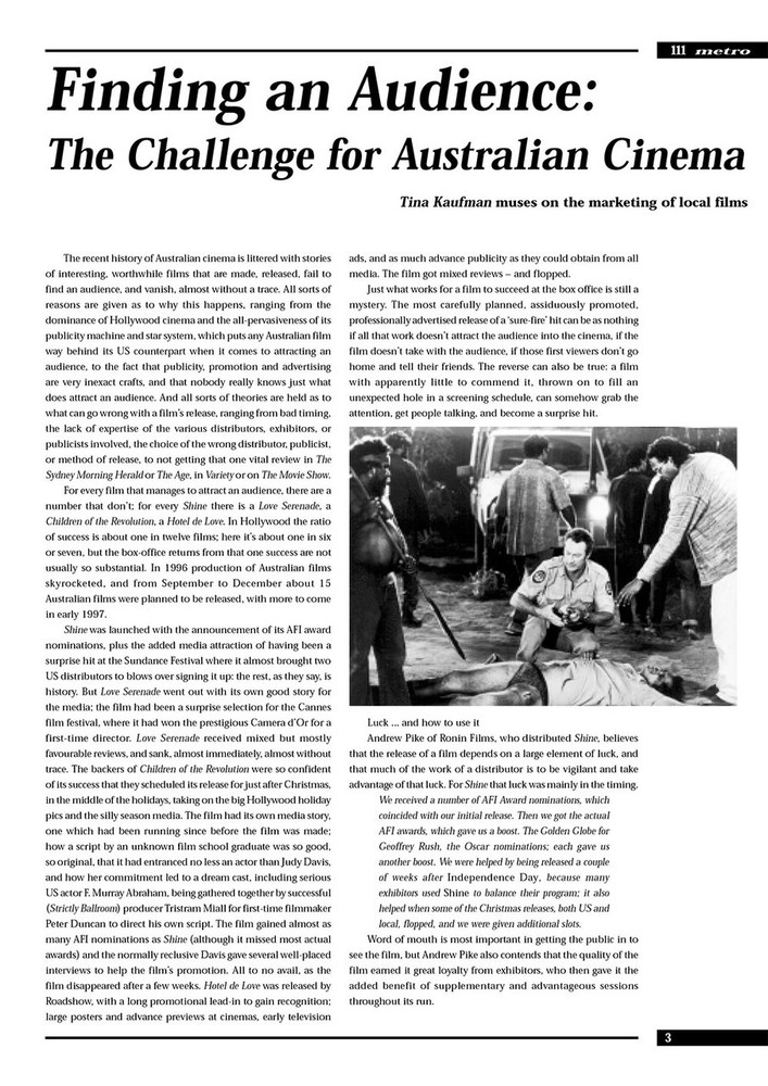 Finding an Audience: The Challenge for Australian Cinema (M111 version)