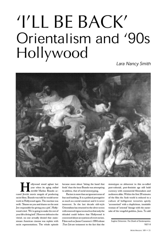 I'll Be Back': Orientalism and '90s Hollywood