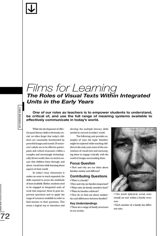 Films for Learning: The Roles of Visual Texts Within Integrated Units in the Early Years